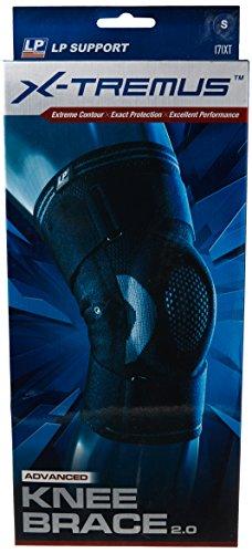 LP Support X-TREMUS 171XT Kompressions Kniebandage 2.0 - Knieschutz Sport, Größe:S, Farbe:schwarz