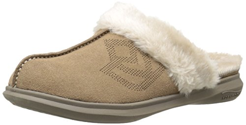 Spenco Women's Supreme Slide Mule, Taupe, 5 M US