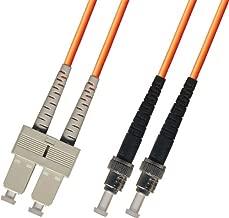 2M Multimode Duplex Fiber Optic Cable (62.5/125) - SC to ST