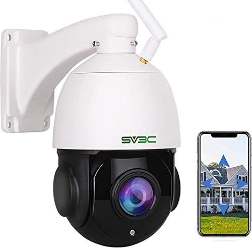 1080p PTZ Telecamera IP Esterno SV3C, Telecamera di Sicurezza Con ZOOM OTTICO 20X, umanoide Rilevazione Movimento, 60m Visione Notturna, Audio Bidirezionale, IP66 Impermeabile