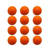 Foam Golf Balls Practice Ball Orange Indoor Outdoor Training Exercise Value 12 Pack, 1.68 Inch High Density Soft Ball Men Women Kids Garden Color Yellow Red Blue Mixed (12 PCS, Orange)