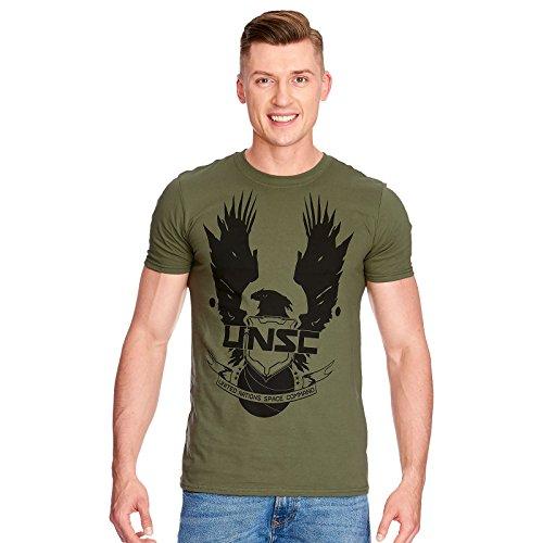Halo Herren T-Shirt UNSC Logo Baumwolle grün - M