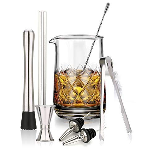Xbai Juego de 10 vasos de cristal para cócteles de 750 ml, para fiestas en casa