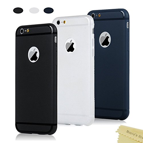 9x Cover iPhone 6 iPhone 6s Custodia Silicone Morbido Satinate