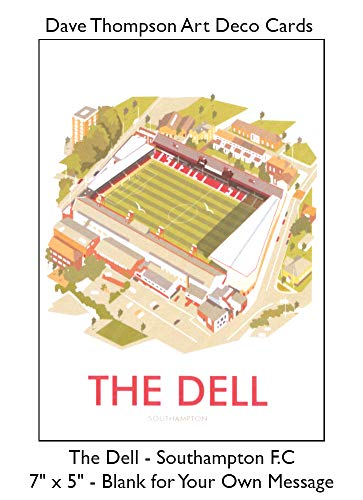 The Dell Southampton Football Club Art Deco Blank Birthday Fathers Day Card