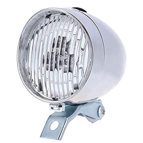 zgpqaw Retro Fahrradscheinwerfer Sicherheitswarnung Nachtlicht, LED Fahrdekoration schwarz silber