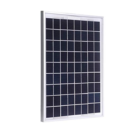 TEMPO DI SALDI Pannello Solare Fotovoltaico Monocristallino Da 10W 18V Con Pinze A Morsa