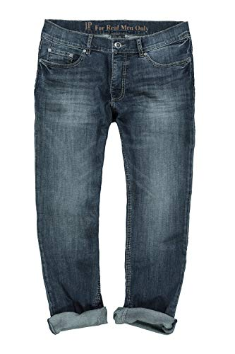 JP 1880 Herren große Größen bis 66, Superstretch-Jeans, 5-Pocket im Used-Look, Straight Fit, Destroyed Blue Used 58 711564 94-58