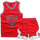 Enfant garçon Michael Jordan # 23 Chicago Bulls Short de Basket-Ball Retro Maillots...
