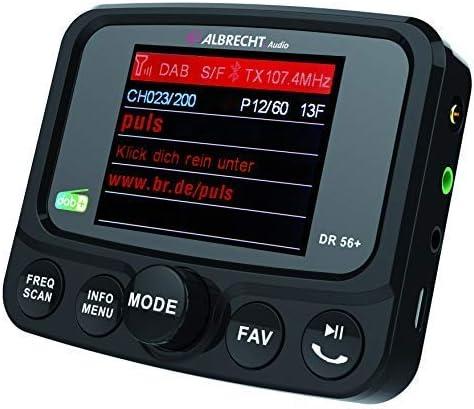 Albrecht DR 56 + Dab + Radio de Coche con Bluetooth, 27256