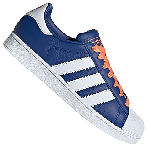 adidas Superstar, Zapatillas de Gimnasia Hombre, Azul (Collegiate Royal/FTWR White/Easy Orange Collegiate Royal/FTWR White/Easy Orange), 45 1/3 EU