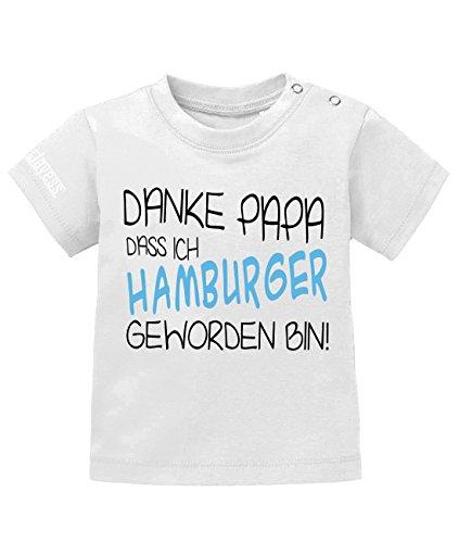 Jayess Danke Papa das ich Hamburger geworden Bin - Baby T-Shirt in Weiss by Gr. 80/86