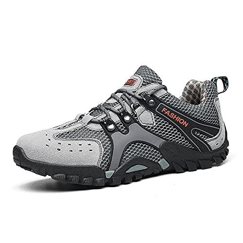 Aerlan Gym Shoes Lightweight Shoes,Zapatos de montañismo Zapatos de Hombre Senderismo, Viajes Deportivos Zapatos al Aire Libre-Gris_38,Botas de montaña Deportivas