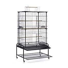 Prevue Pet Products Playtop Flight Bird Cage with Stand – F085, Black