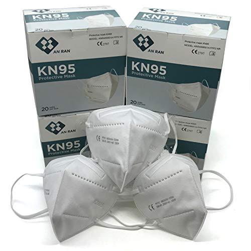 KN95 Face Mask - FFP2 Face Masks - N95 Disposable face Maske - FFP2 KN95 N95 Medical Grade Respirator Protective Face Masken, 95% Filtration Mask (Pack of 20 Pieces)