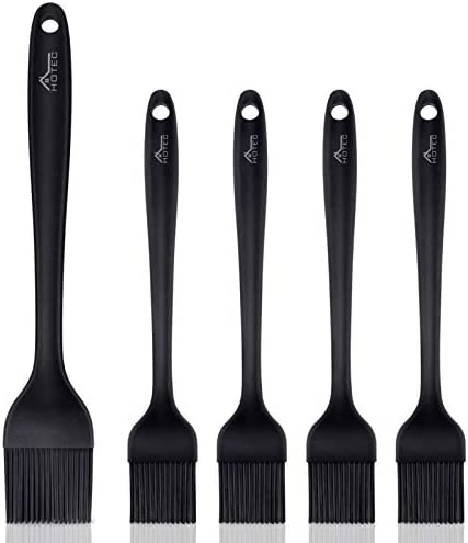 Hotec 5 pieces Set Silicone Heat Resistant Marinade Meat Basting Pastry Brush Spread Oil Butter product image