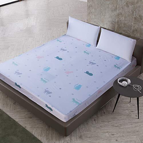 huyiming Gebruikt voor Garnalen huid waterdicht afdrukken stofdichte bed cover vochtbestendige matrashoes baby isolatie bed tas bed cover Jingyi 160cmX200cmX30cm