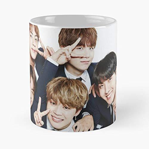 Kpop Pop BTS Army Korean ?Boys Bangtan Music Best Taza de café de cerámica de 315...