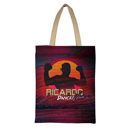 Ricardo Dance! Women Grocery Shopping Shoulder Bag Resuable Canvas Tote Bag