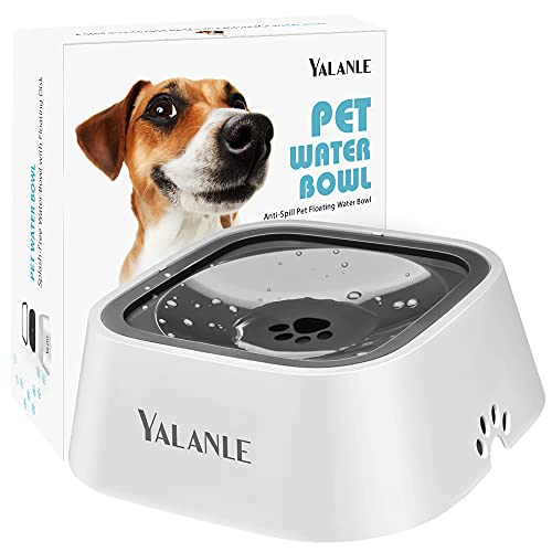 Dog Water Bowl No-Spill Pet Water Bowl Slow Water Feeder Dog Bowl No-Slip Pet Water Dispenser Vehicle Carried Dog Water Bowl for Dogs Cats Pets