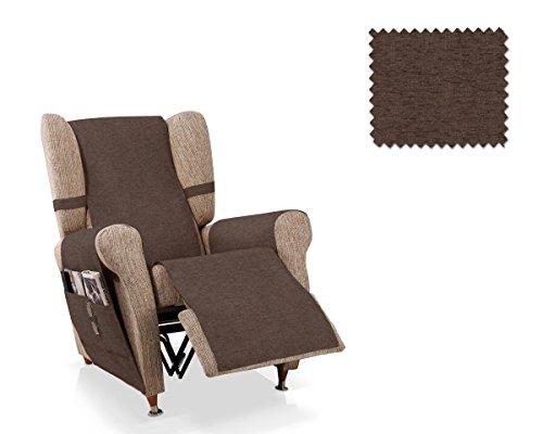 JM Textil Sesselschoner Relax Pharma Größe 1 Sitzer (55 cm), Farbe Braun