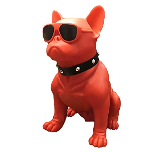 Bluetooth Speakers French Bulldog Art Bluetooth Speakers, Portable Bluetooth Speakers, Suitable for Mobile Phones, Laptops, Tablets, TV Bluetooth Speakers (Medium, Red:8.26/9.05/4.33in)