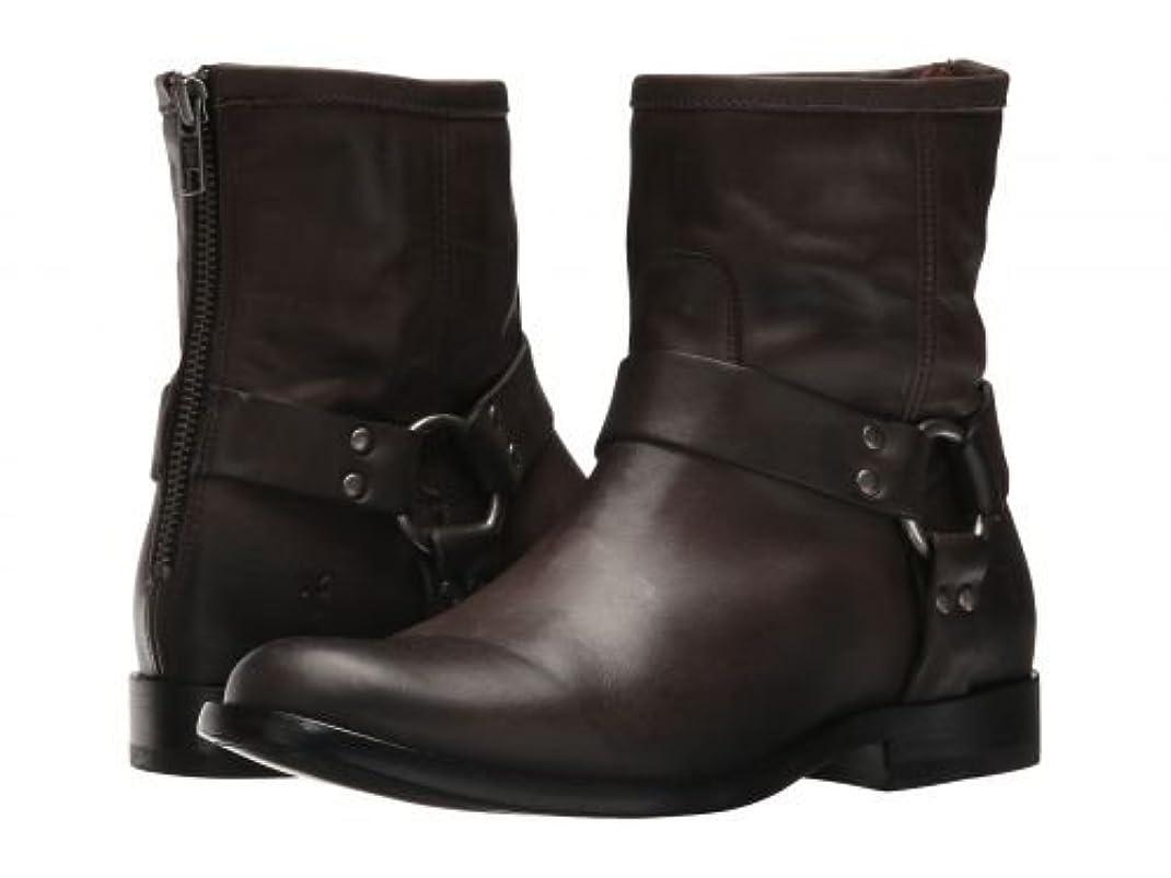 番目聴覚障害者期待するFrye(フライ) レディース 女性用 シューズ 靴 ブーツ ライダーブーツ Phillip Harness Short - Smoke [並行輸入品]