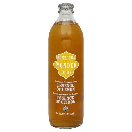 Kombucha Wonder Drink - Botella de té fermentado espumoso orgánico Té...