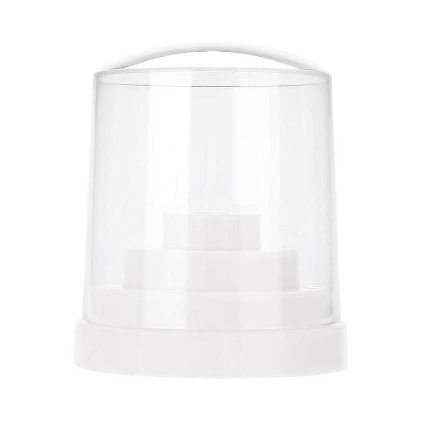 人間平和なゲートネイルドリルスタンド、48穴ネイルアートプラスチックネイルケアドリルスタンドホルダードリルビットディスプレイオーガナイザーボックスアートアクセサリー(白)