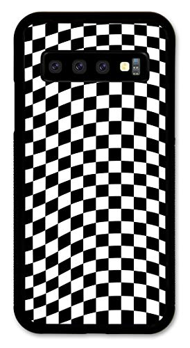 Cell Phone Cover - Slim Fit - Compatible with Samsung Galaxy S10+ (Plus) - Checkered Flag