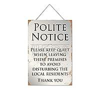静かにしてください政治的通知木製のリストプラーク木の看板ぶら下げ木製絵画パーソナライズされた広告ヴィンテージウォールサイン装飾ポスターアートサイン