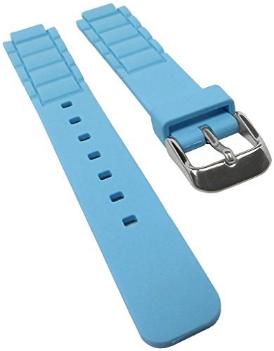 Correa de repuesto para reloj Casio Collection de resina azul LTP-1331