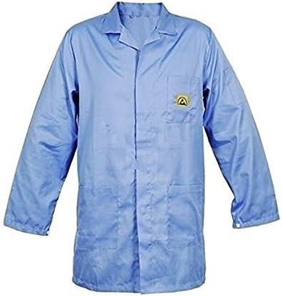SCHOFIC ANTI-STATIC [ESD] SAFE Unisex Apron/Lab Coat/Jackets [Medium] - Blue