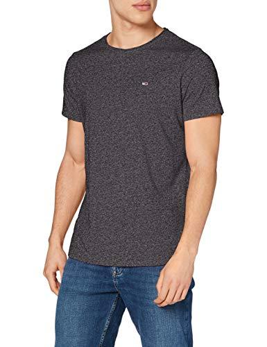Tommy Jeans Herren TJM Slim Jaspe C Neck T-Shirt, Schwarz, M