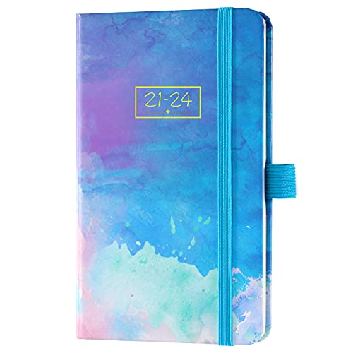 2021-2024 Pocket Planner/Calendar - Monthly Pocket Planner/Calendar with Pen Hold, July 2021-June 2024, 3 Year Monthly Planner 6.3' x 3.8', Inner Pocket and 63 Notes Pages, Easy to Carry