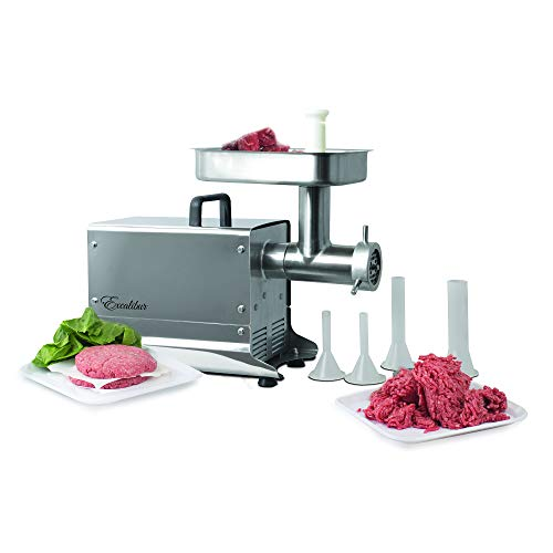Excalibur EPMG32 Electric Professional Meat Grinder, Silver/Gray