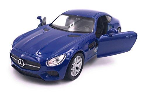 Welly Mercedes AMG GT Modellauto Auto Lizenzprodukt 1:34-1:39 Blau