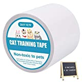 PatiencET Double sidedpe Anti CatScratchTape 4 inches x 30 Yards Scratch Deterrent Training Tape Furniture Protector for Carpet, Doors, Couch.