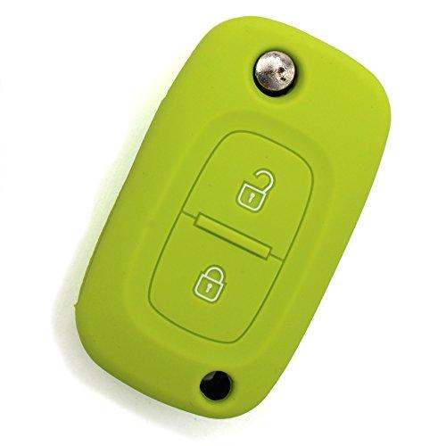 Schlüssel Hülle RA für 2 Tasten Autoschlüssel Silikon Cover von Finest-Folia (Limegreen)