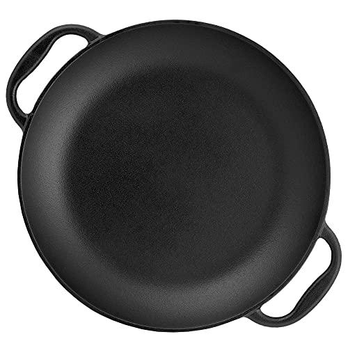 BBQ-Toro traditionelle Paella Pfanne für 6 Personen | Ø 36 cm | Gusseisen Grillpfanne mit Griffen | pre-seasoned - bereits eingebrannt | Paellapfanne für Grill, Gasherd, Elektroherd