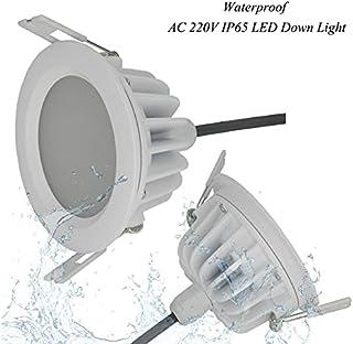 LONGWDS (6pcs / Lote 15w Impermeable IP65 Dimmable LED Downlight COB15W DIMMING LED LED LED Lámpara de Techo Lámpara de Te...