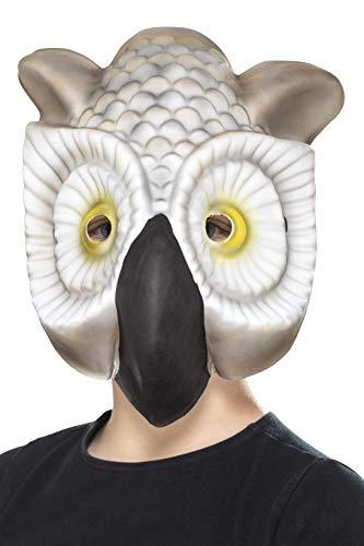 Smiffys Kinder Unisex Eulen Maske, One Size, Grau und Weiß, 46973