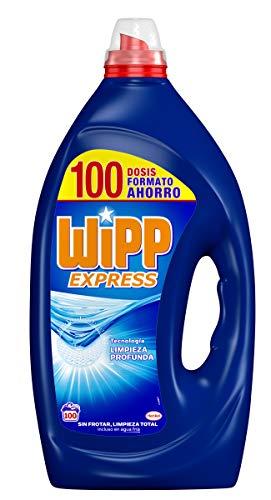 Wipp Express Detergente Líquido Azul, Formato Ahorro - 100 Lavados (5L)