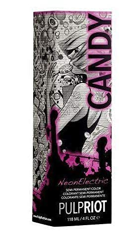 Pulp Riot Semi-Permanent Neon Hair Color デポー - Candy 4oz- PACK 売れ筋ランキング 4