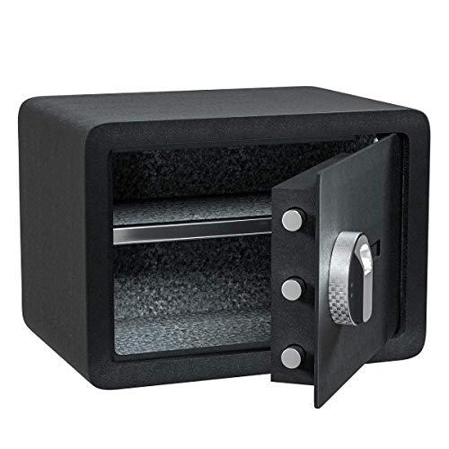 Jolitac Biometric Fingerprint Security Safe Box Smart Quick, Gun Safes for Pistols, Lock Box Cabinets, Solid Steel Safe Strongbox for Money, Jewelry, Cash Boxes, w/Deadbolt Lock (0.77 Cubic Feet)