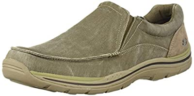 Skechers Men's Expected Avillo Relaxed-Fit Slip-On Loafer,Khaki,11 D US
