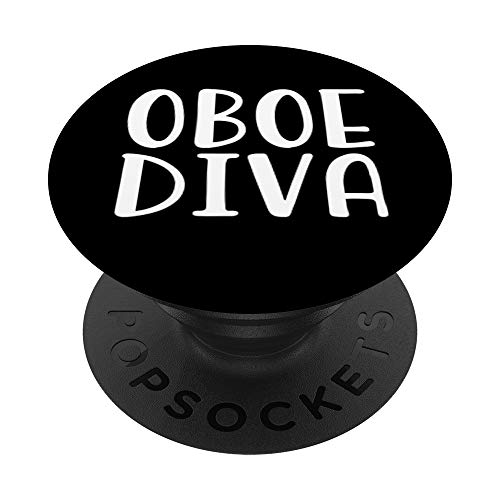 Oboe Marching Band Nerd Geek Camp Gift For Girls Teens Black PopSockets Grip and Stand for Phones and Tablets