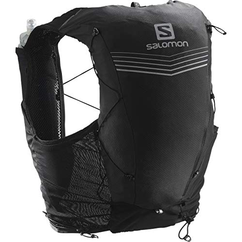 Salomon Advanced Skin 12 Set Unisex Trail Running Vest Backpack, Black, Large
