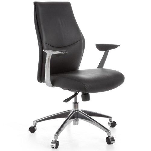 Amstyle Design Chaise de Bureau énormément Cuir avec 5 Points mécaniques à 120kg kenil 2 Noir