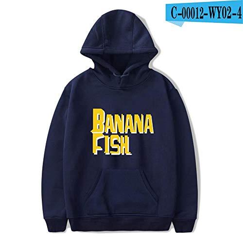 Sudadera con Capucha HD Hoodie Unisex Sudadera Estampada Sweater De La Capa De Impreso Arte Tops Pullover Cosplay Banana